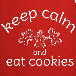 keep calm and eat cookies   Aprons - Cooking Apron