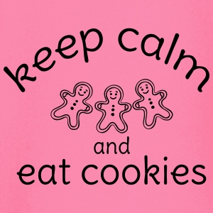 keep calm and eat cookies  Long Sleeve Shirts - Baby Long Sleeve T-Shirt