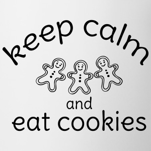 keep calm and eat cookies  Bottles & Mugs - Mug