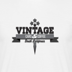 Vintage cars&coffee - T-shirt Homme