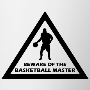 beware of the basketball master Flaschen & Tassen - Tasse zweifarbig