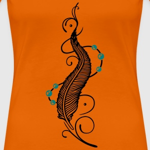 Feder, Indianer, feathers, Native American T-Shirts - Women's Premium T-Shirt