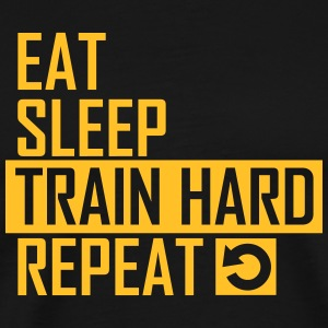 train hard T-Shirts - Männer Premium T-Shirt