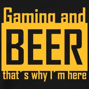 gaming and beer T-Shirts - Männer Premium T-Shirt