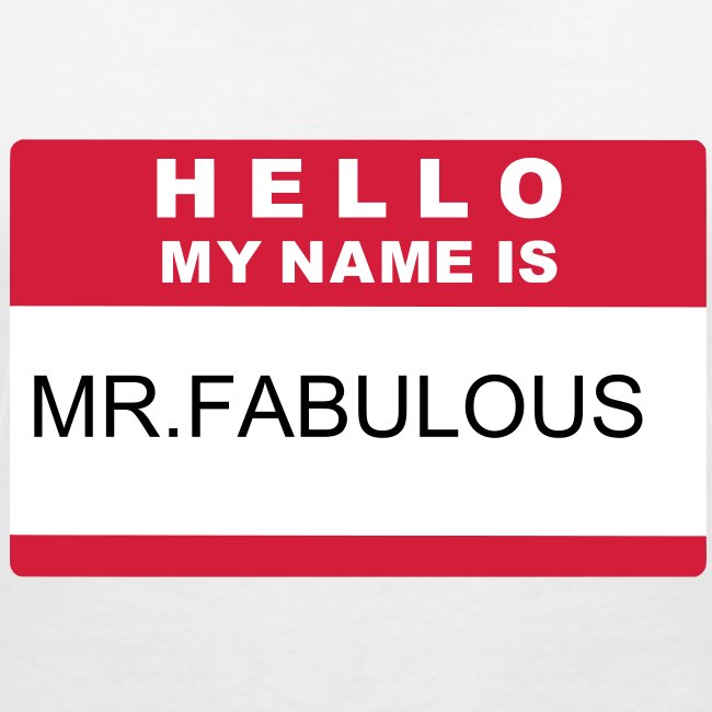 mr.fabulous t-shirt