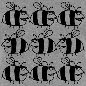 Many thick bee pattern T-Shirts - Women's Premium T-Shirt