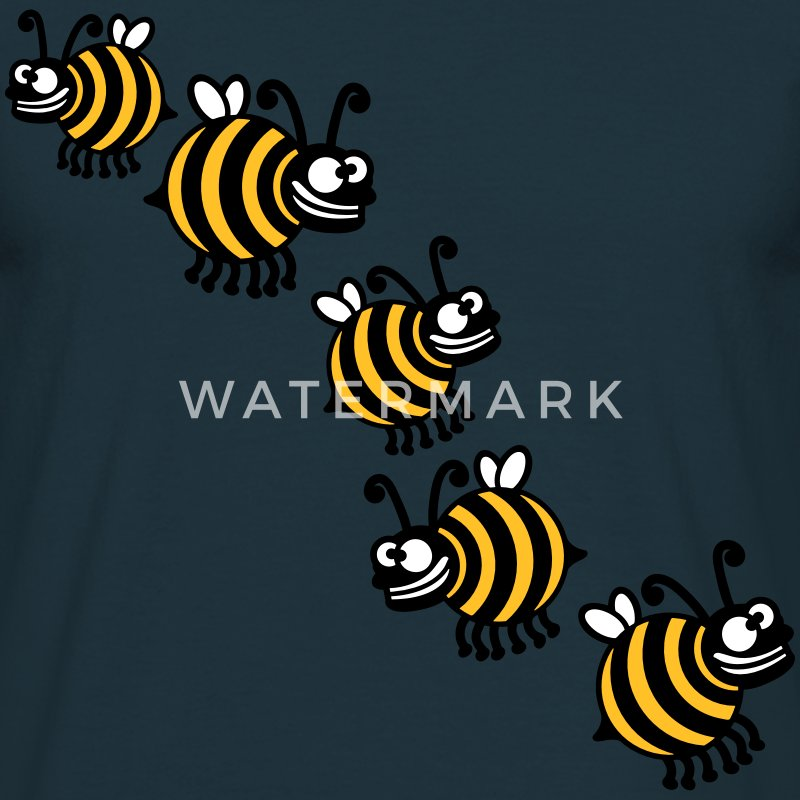 Thick crazy bees T-Shirts - Men's T-Shirt
