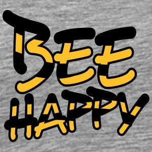 Bee Happy Comic Text Logo T-Shirts - Männer Premium T-Shirt