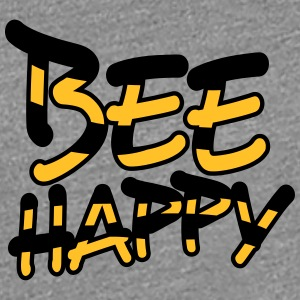 Bee Happy komisk Text Logo T-shirts - Premium-T-shirt dam