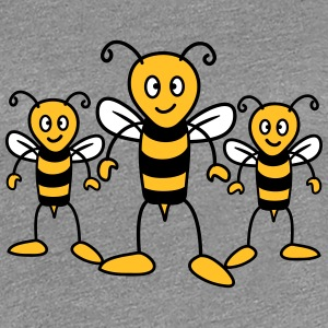 3 funny cartoon bees T-Shirts - Women's Premium T-Shirt