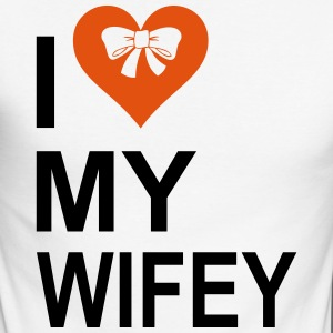 I Love My Wifey Long sleeve shirts - Men's Long Sleeve Baseball T-Shirt