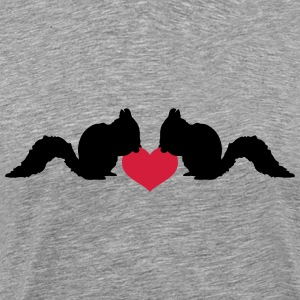 Love squirrel of heart nut T-Shirts - Men's Premium T-Shirt
