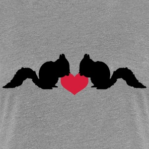 Love squirrel of heart nut T-Shirts - Women's Premium T-Shirt