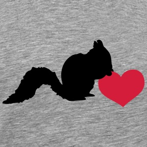 Squirrel love heart nut T-Shirts - Men's Premium T-Shirt