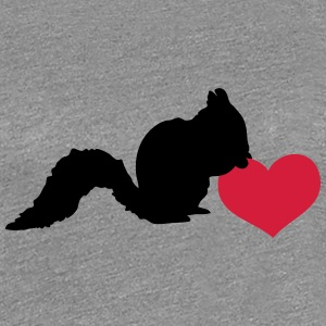 Squirrel love heart nut T-Shirts - Women's Premium T-Shirt