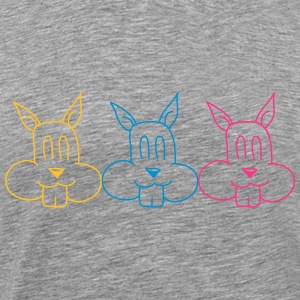 3 team squirrel friends T-Shirts - Men's Premium T-Shirt