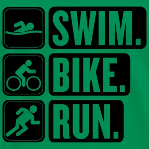 Swim Bike Run Triathlon - Men's Premium T-Shirt