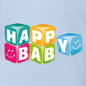 happy baby cubes Tee shirts - Body bébé bio manches courtes