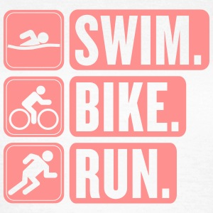 swim bike run girlie - Women's T-Shirt
