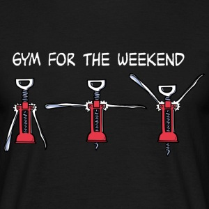 Gym for the Weekend (dark) T-Shirts - Men's T-Shirt