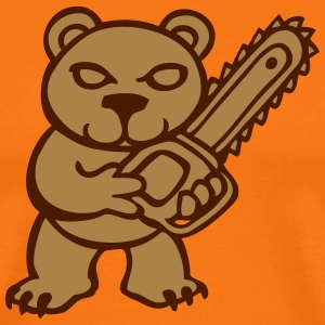 chainsaw bear  T-Shirts - Men's Premium T-Shirt