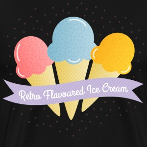ice cream is T-shirts - Herre premium T-shirt