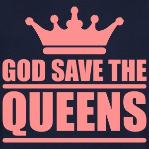God save the queens (1 color) T-shirts - T-shirt med v-ringning herr