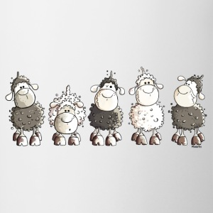 Funny Sheep  Bottles & Mugs - Contrasting Mug