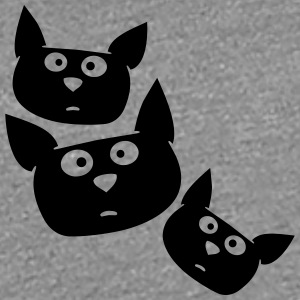 Funny cartoon cats faces T-Shirts - Women's Premium T-Shirt