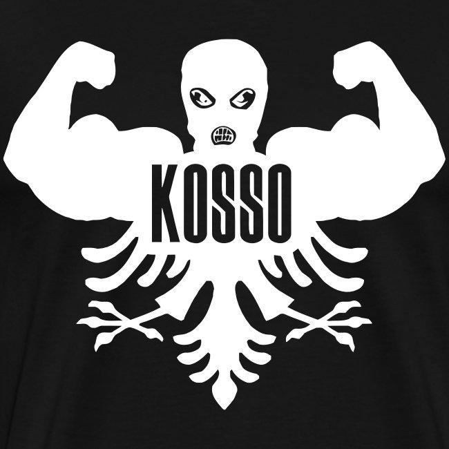 Kosso Mannenshirt (Witte Logo)