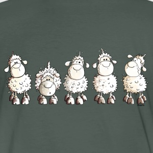 Funny White Sheep T-Shirts - Men's Organic T-shirt