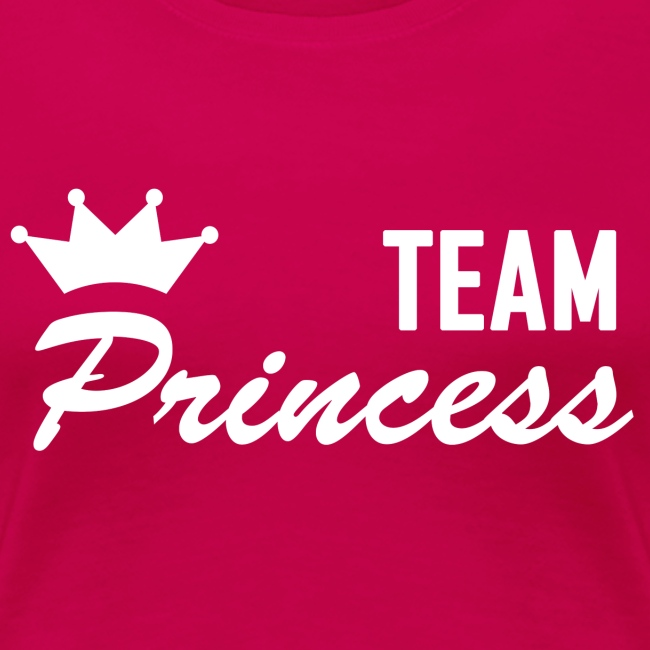 Women's Team Princess White Premium T shirt