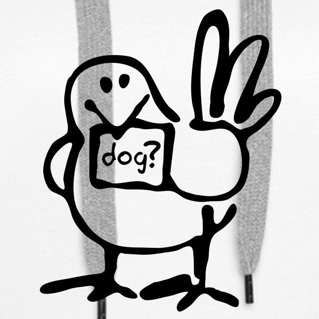 Ladies Bird Hoodie (Black Print)
