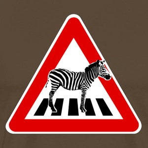 Attention Zebra on crosswalk T-Shirts - Men's Premium T-Shirt