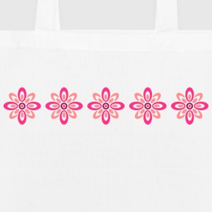 retro flower pattern Bags & Backpacks - EarthPositive Tote Bag