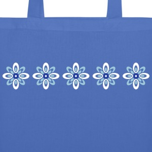 retro flower pattern Bags & Backpacks - Tote Bag