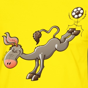Donkey Shooting a Foot Ball T-Shirts - Men's Ringer Shirt