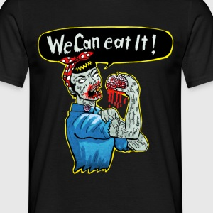 Schwarz we can eat it T-Shirts - Männer T-Shirt