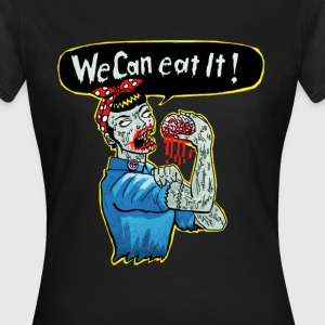 Schwarz we can eat it T-Shirts - Frauen T-Shirt