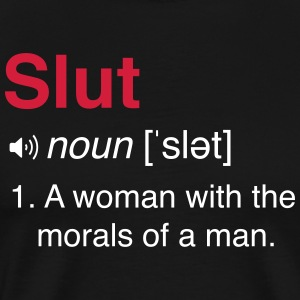Slut Definition T-Shirts - Men's Premium T-Shirt