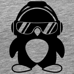 Penguin with headphones T-Shirts - Men's Premium T-Shirt