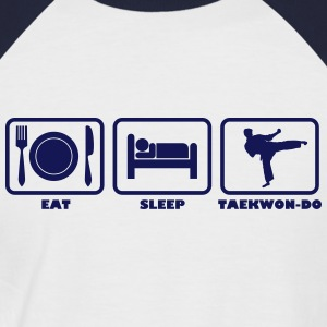 Eat Sleep Taekwondo Kick - Men's Baseball T-Shirt