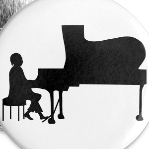 pianist Buttons & merkelapper - Stor pin 56 mm