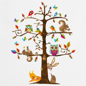 colorful animals on a tree   Aprons - Cooking Apron