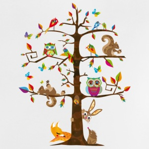 colorful animals on a tree  Shirts - Baby T-Shirt