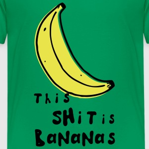this shit is bananas banana monkey humor quotes Shirts - Teenage Premium T-Shirt