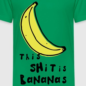 this shit is bananas banana monkey humor quotes Shirts - Kids' Premium T-Shirt