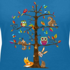 colorful animals on a tree  T-Shirts