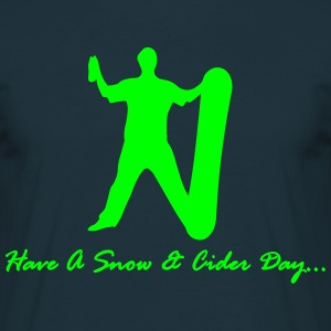 Snow & Cider Day - Snowboarding - Men's T-Shirt