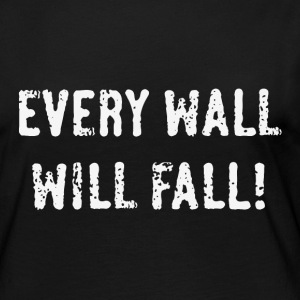 Every Wall Will Fall! (White / PNG) Long Sleeve Shirts - Women's Premium Longsleeve Shirt